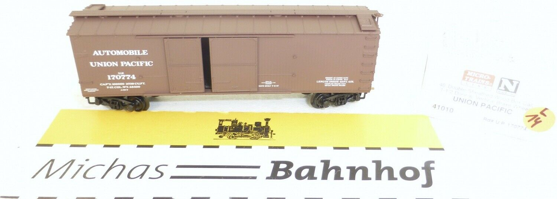 Micro Trains 41010 u. P. .170774 40' outside Bradced Boxcar 1 1 2 N 1 160 Ovp