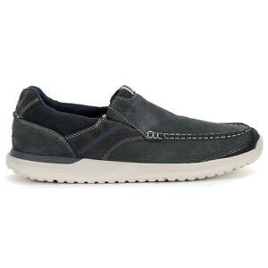 Rockport Men's Langdon Slip On Steel Blue Slip-On Shoes H80162 NEW!