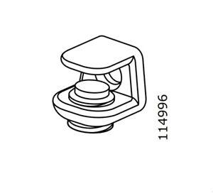 12 x IKEA BESTA Original Ersatzteile  Nr.:113301 Halter Bodenträger