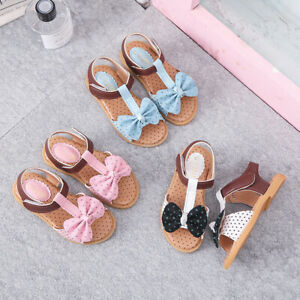 Children-Toddler-Kids-Baby-Girls-Summer-Bow-Knot-Single-Princess-Shoes-Sandals