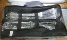 Ensemble d'ustensiles barbecue 3 pièces «  Stainless Steel » dans sacoche en tis