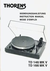 Original-Bedienungsanleitung-THORENS-TD-146-MK-V-166-MK-V