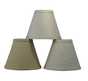 Details About Urbanest Linen Mini Chandelier Lamp Shade Clip On Hardback 3 X6 X5 3 Colors