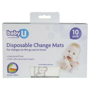 Baby-U-Disposable-Change-10-Mats-1-pack