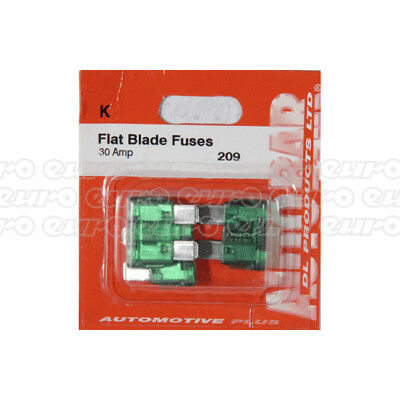 Autobar 655 Flat Blade Fuses 30 Pieces 10 Amp Electrical Replacement Spare Part