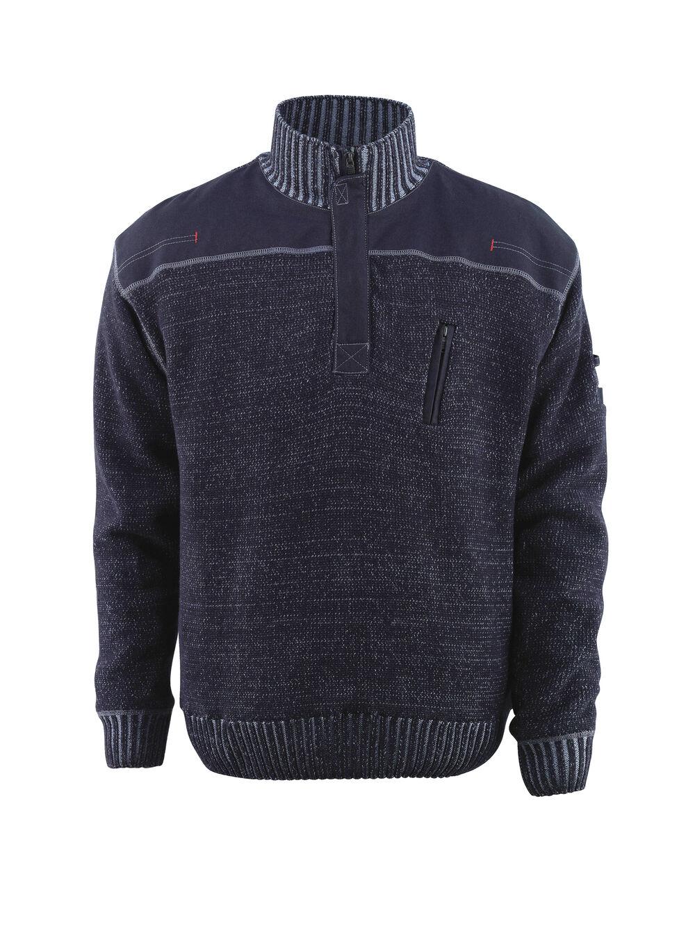 Mascot Naxos Knitted Jumper Workwear schweißhemds Blau grau Snickers Direct Pre
