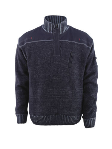 Mascot Naxos pull en mailles workwear sweatshirts gris bleu Snickers direct