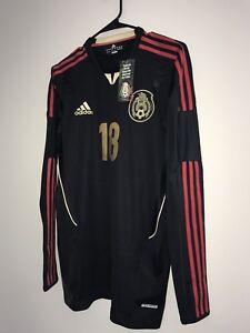 e2f38b5d0b5 Adidas Mexico Player Issue Long Sleeve Techfit Away Soccer Jersey A ...