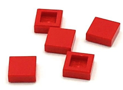 Lego Lot of 5 New Black Tile 1 x 1 with Groove Flat Smooth Pieces Parts