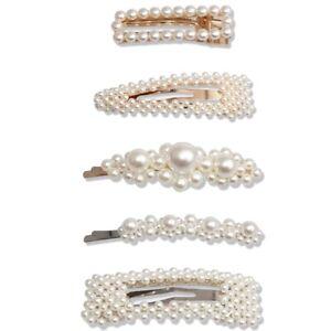 Mode-Tendance-Perle-Accessoires-De-Cheveux-Cadeau-Pour-Femmes-Filles-5-Pcs-K7O3