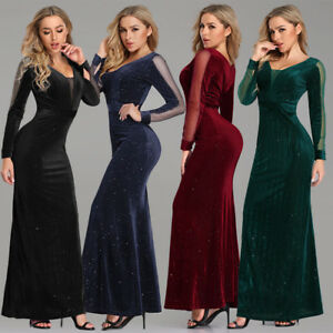 Ever-Pretty-US-Hot-Long-Sleeve-Formal-Evening-Dresses-Pageant-Prom-Gown-Cocktail