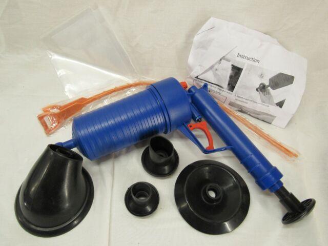 Thinvik Power Toilet Plunger Set Drain Clog Remover Tool Drain Snake Tub Drain C