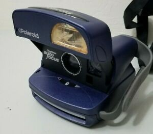 Polaroid One Step Autofocus Instant Camera *GOOD* w/Case Free Ship, Strap Wear