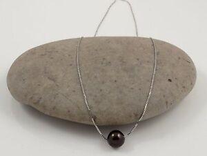 Fine Freshwater Pearl Pendant & Sterling Silver Chain 18'' Princess