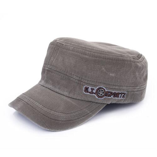Rétro Vintage Flat-Top Patrouille Caps fatigue Chapeau Militaire Armée Soldat Combat Cap