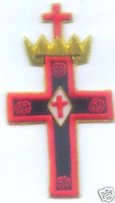 Medieval Masonic Knights Templar Rosy Cross Lodge Symbol Jewel Degree Patch KT 3