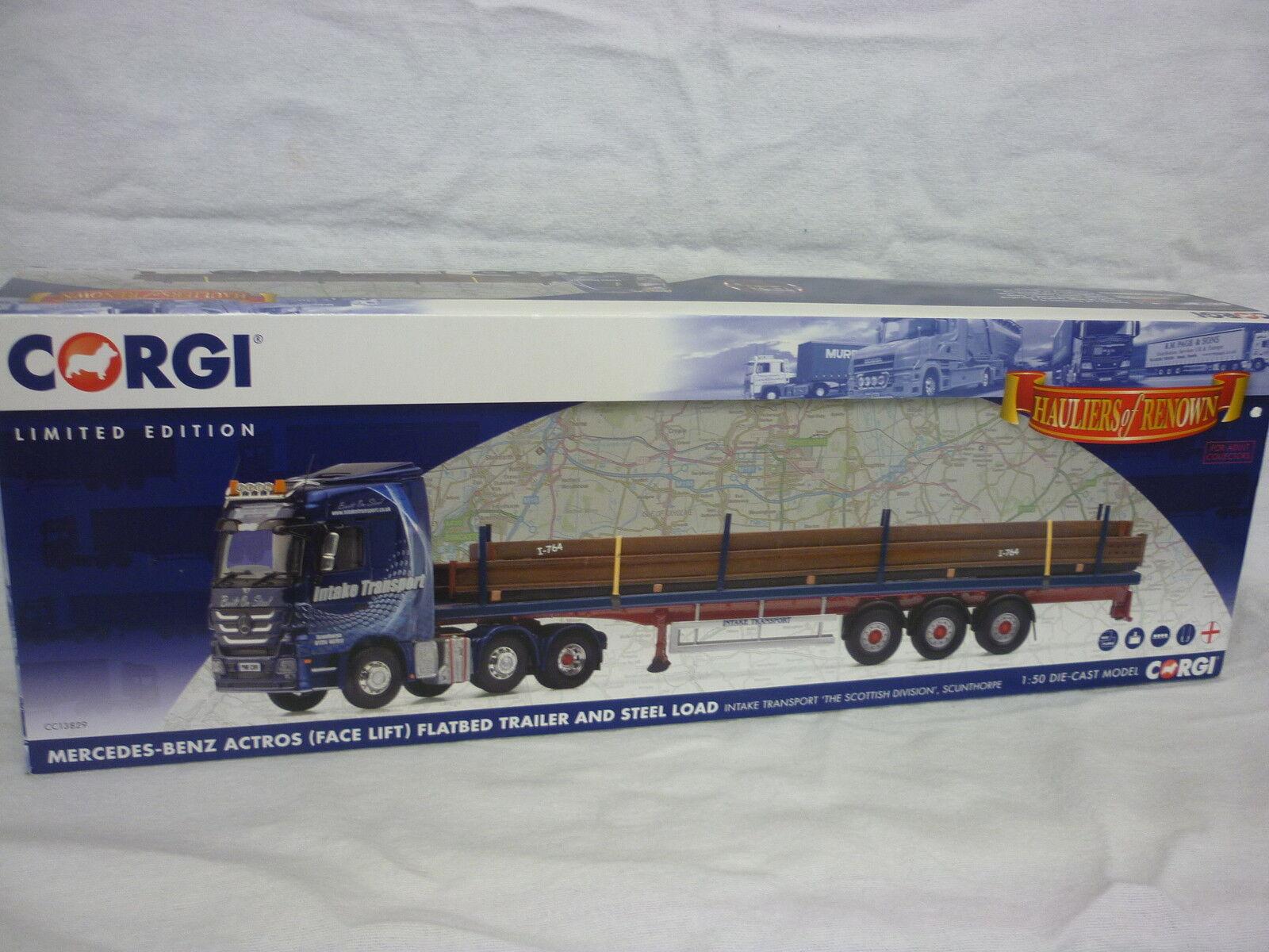 CORGI moderno Camion/ALAGGIO CC13829 Merc ACTROS ACTROS ACTROS Flatbed & carica trasporto di aspirazione dc938b
