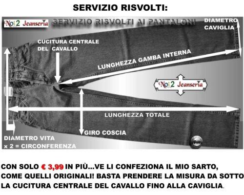 JEANS VAGABOND DOPPIO RITORTO MISURE DALLA 46 ALLA 62