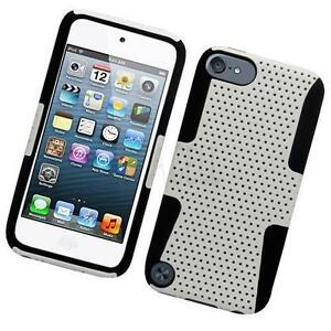 Black-White-Shockproof-Hybrid-Soft-Case-Silicone-Cover-For-Apple-iPod-Touch-5-6
