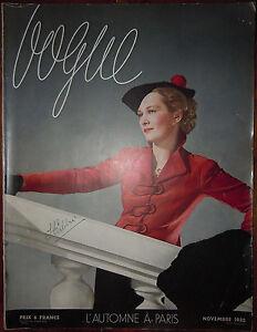 C1 Revue Mode Vogue 1935 Horst Eric Leon Benigni Cecil Beaton Schall Pottier