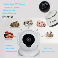White Mini Hd Wifi Camera Baby Monitor Video Pt Night Intercom Ir Sound System