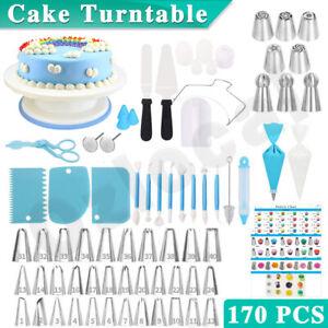 170Pcs-Cake-Decorating-Kit-Turntable-Rotating-Baking-Flower-Icing-Piping-Nozzles