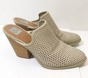 Dolce-Vita-10-Tan-Mule-Chunky-Heel-Perforated