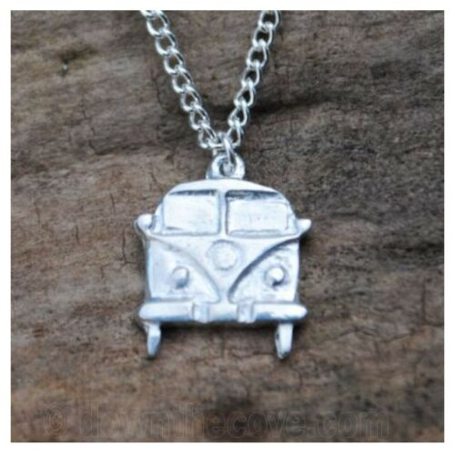 Made in Cornwall Highly Polished Pewter Campervan Pendant Gift Boxed