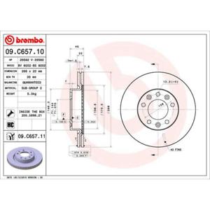 2 Stück Bremsscheibe Brembo 09.C657.11 COATED DISC LINE