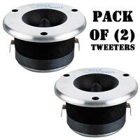 Pair Of Pyle 3.75'' Aluminum Bullet Titanium 300 Watts Horn Tweeter Dj Pro on sale