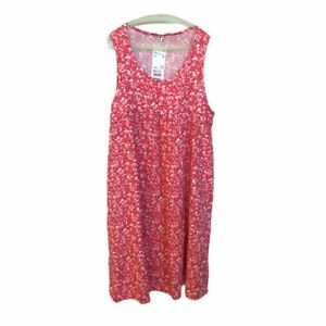 UNIQLO-Girl-039-s-Gathered-Sleeveless-Dress-Size-13-Pink-Floral-NWT