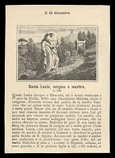 santino litografia 1800 S.LUCIA V.M.
