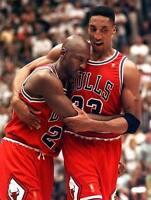 Scottie Pippen Michael Jordan Chicago Bulls Nba Basketball 8x10 Photo