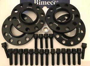perni di bloccaggio B Cruize RUOTA in lega Distanziatori 15mm//20mm BMW per VW T5 T6 M4X1.5