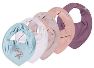Organic Cotton Baby Halstücher 5er Set ♦ Pippi 4 Stück 1 GRATIS Tuch ♦ Neu
