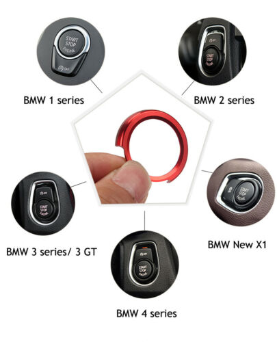 Red Keyless Ignition Start Button Ring Cover Trim for BMW 1 2 3 4 series New X1