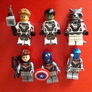 Amical Marvel Avengers 6 Minifigures-thor Hulk Hawkeye Nebula America Rocket Racoon-afficher Le Titre D'origine