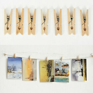 Natural Wooden Photo Holder Clips Diy