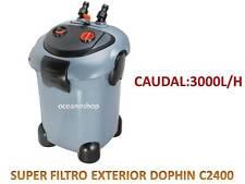 SUPER FILTRO EXTERIOR DOPHIN c2400 3000l/h acuario filtracion externo bomba 40w