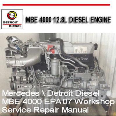 Detroit Diesel MBE 4000 EPA07 Workshop Service Manual Factory Digital  Manual CD | eBay