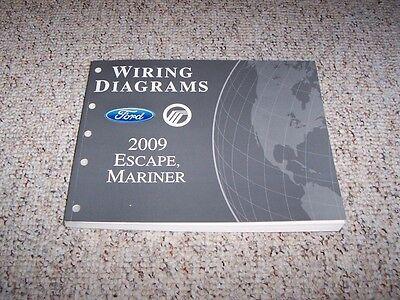 2009 Ford Escape Electrical Wiring Diagram Manual XLS XLT ...