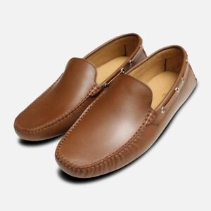 Vitello Mens Moccasins Italian Knight Brown Arthur SrZSPzq