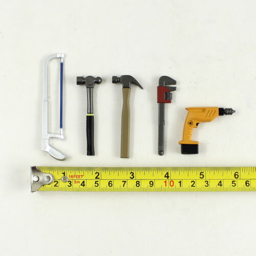Drill Hammer*2 T32-22 1//6th Scale Action Figure ZCWO Saw Spanner
