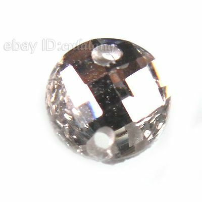 300x 24293 Wholesale White Round Faceted Charms Sew-on Flatback Resin Bead 5mm