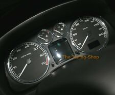 FOR PEUGEOT 307 2001-2007 CHROME DIAL SURROUNDS GAUGE TRIM RINGS NEW