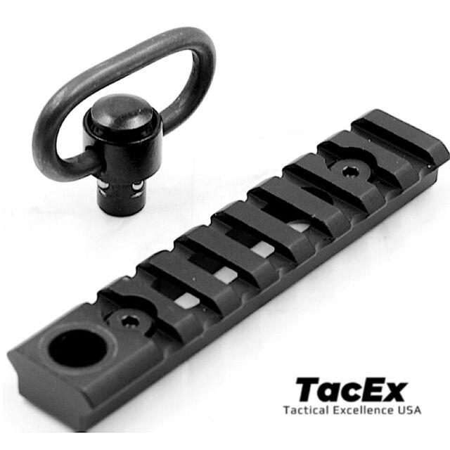 QD Push button Sling Keymod 20mm Picatinny rail base mount for rifle Aluminum