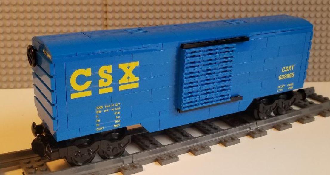Lego Train Boxcar CSX -- PLEASE READ ITEM DESCRIPTION --