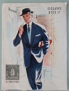 Ancien-catalogue-magasin-au-printemps-Brummel-vetements-accessoires-ete-1957