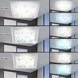 LED-Plafonnier-Salle-a-manger-RGB-telecommande-CHANGEMENT-DE-COULEUR-lampes