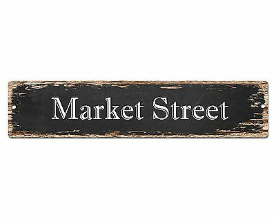 SP0517 MARKET STREET Street Sign Home Room Cafe Store Shop Bar Chic Decor Gift